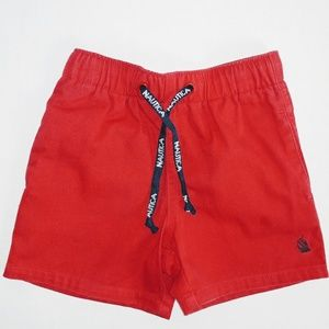 Nautica Red Shorts (Boys) with Drawstring Tie